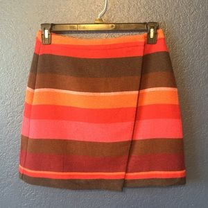 LOFT Multicolored Wool Blend Skirt